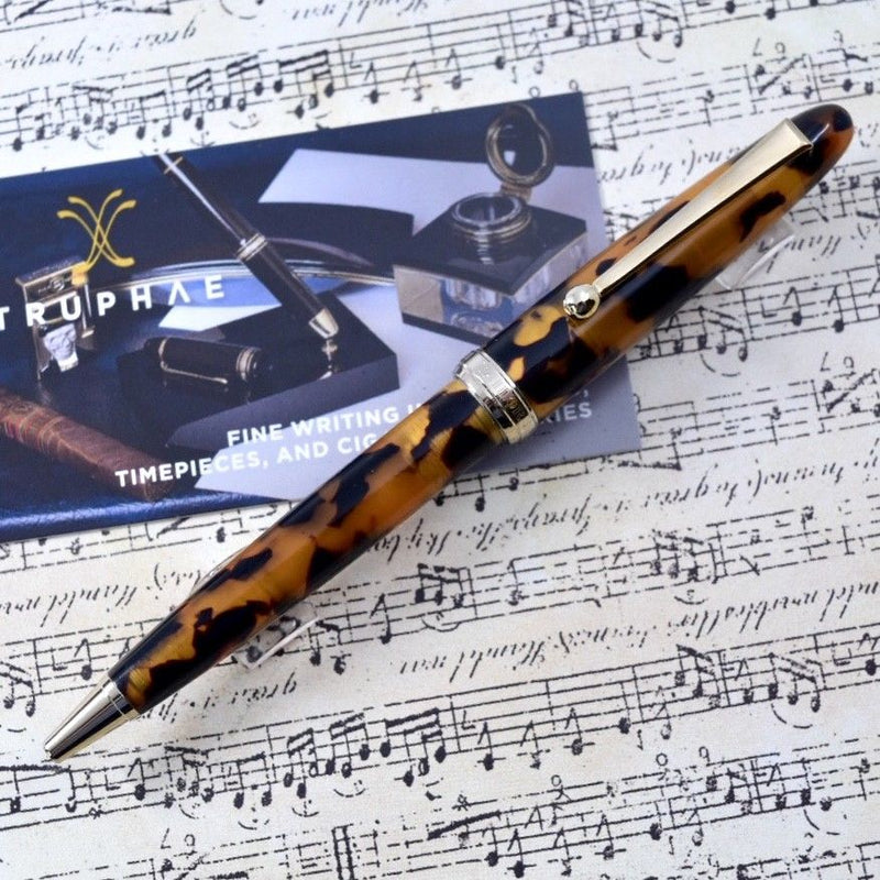 Sailor 1911 Magellan Tortoise Shell Brown Marble Gold Plated Trim Ballpoint Pen