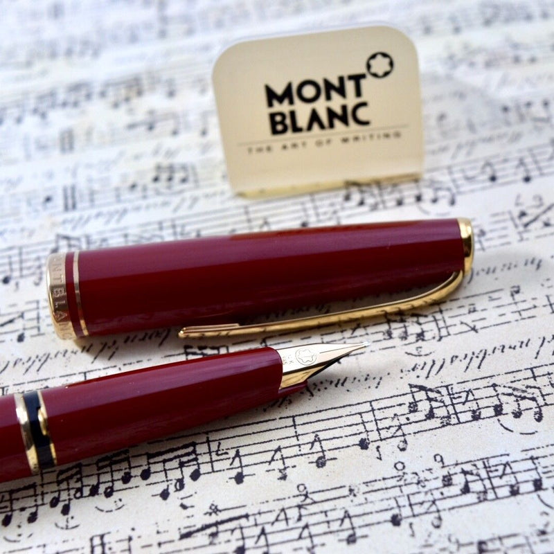 Montblanc Generation Red & Gold Plated Trim Fountain Pen 14k Medium Nib