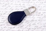 Montblanc Jewellery Matte Steel Black Leather Key Ring Fob 114562-Montblanc-Truphae