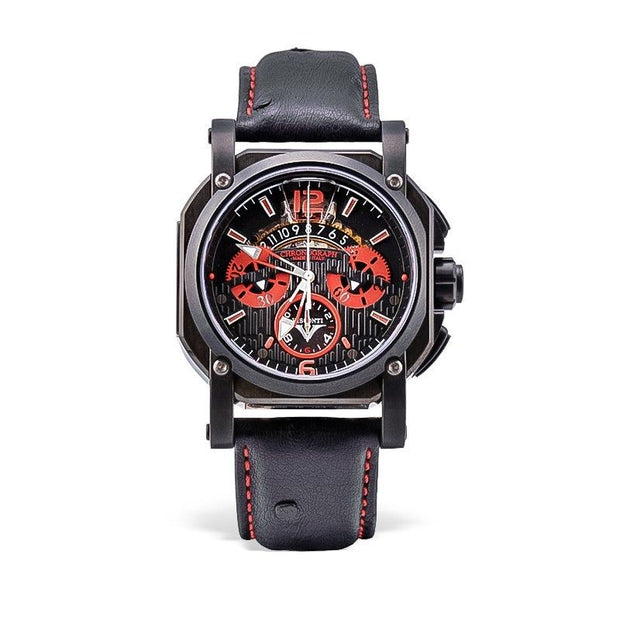 Visconti Italy 2 Squared Chronograph Monza Red Stainless Steel Automatic Watch-Visconti-Truphae