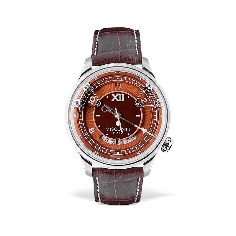 Visconti Italy Opera Stainless Steel with Orange Dial 43.5mm Automatic Watch