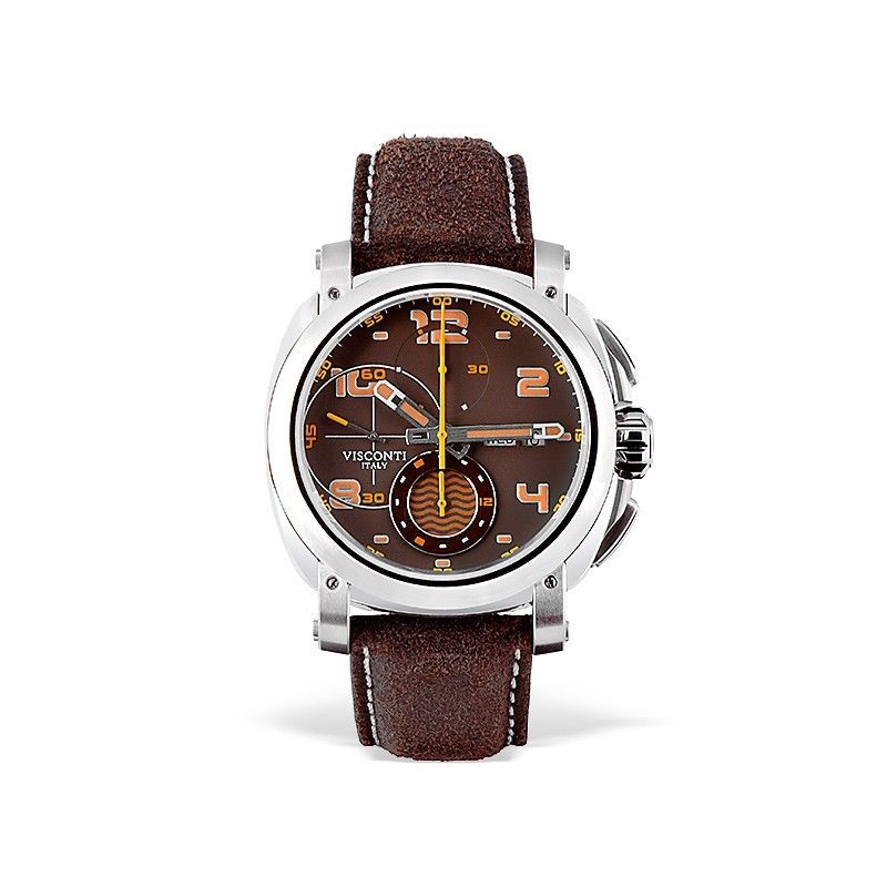 Visconti Majorca Chronograph Stainless Steel Brown Dial 43mm Automatic Watch