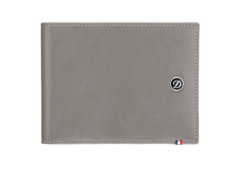 ST Dupont Line D Grey Leather 6cc Billfold Wallet ST180700