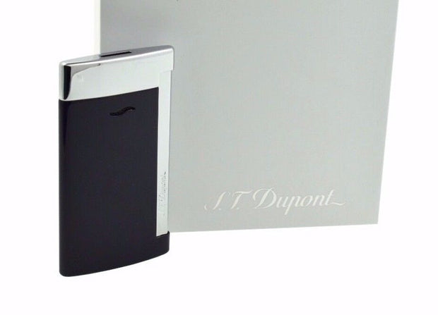 ST Dupont Slim 7 Blue Lacquer & Chrome Finish Lighter ST027709-ST Dupont-Truphae