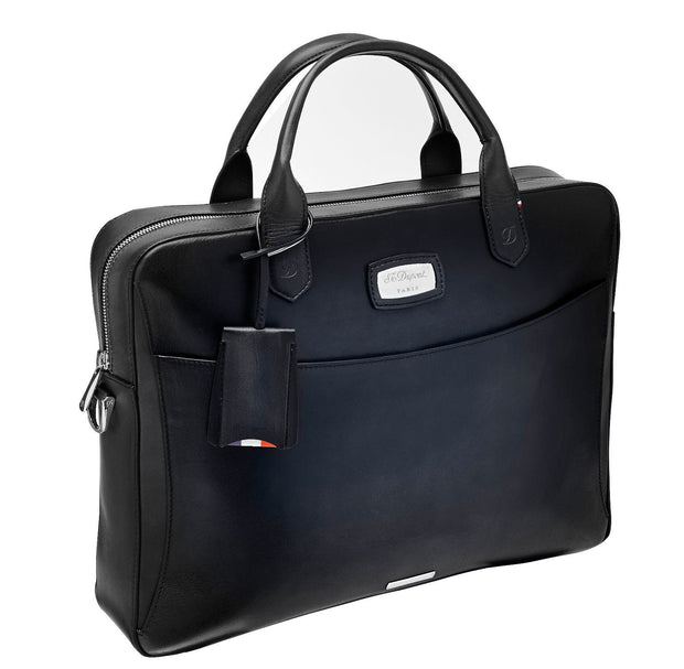 ST Dupont Atelier Collection Black Leather Document Holder Briefcase ST191241-ST Dupont-Truphae