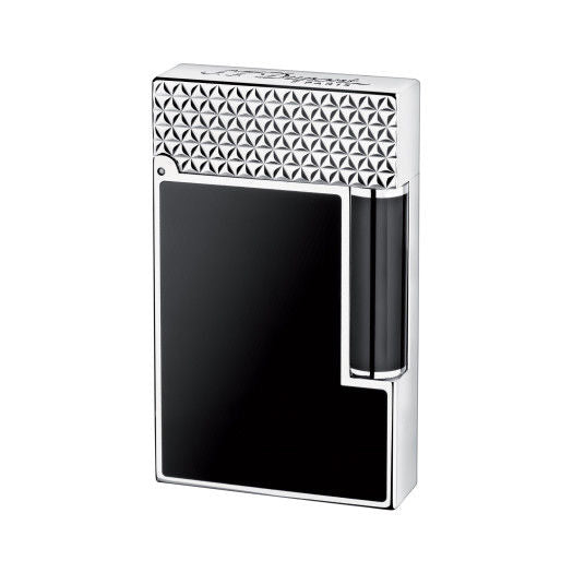 ST Dupont Ligne 2 Palladium Finish Black Natural Lacquer Lighter ST016746