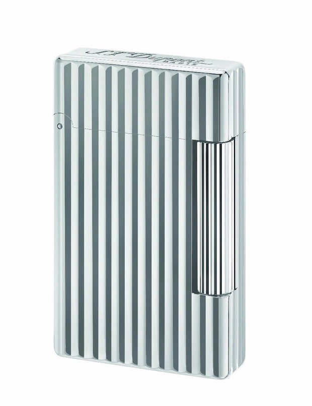ST Dupont Initial White Bronze Finish Striped Pattern Lighter ST020802-ST Dupont-Truphae