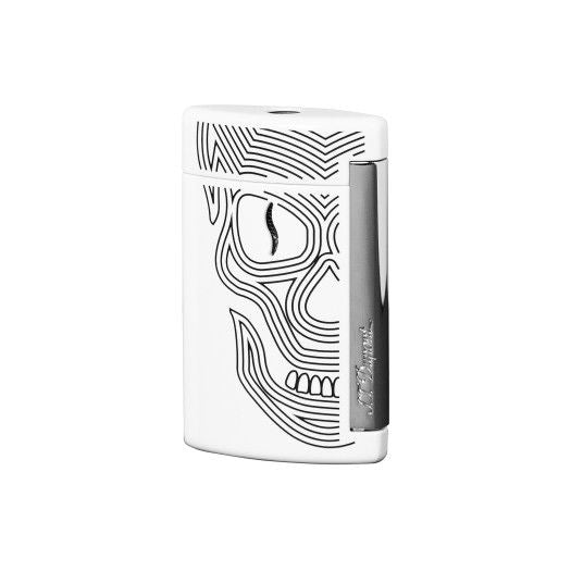 ST Dupont MiniJet White Skull & Chrome Finish Lighter ST010512-ST Dupont-Truphae