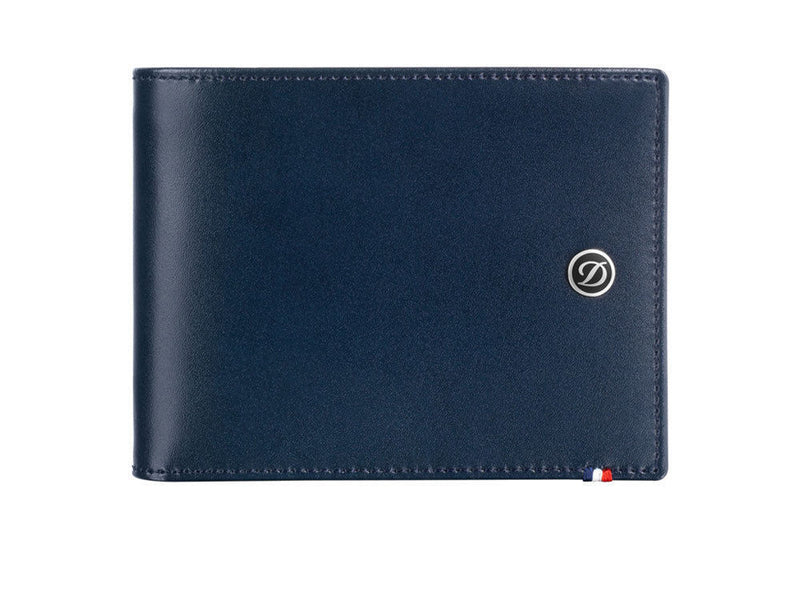 ST Dupont Line D Blue Leather 6cc Billfold Wallet ST180900