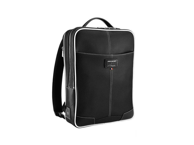 ST Dupont Defi McLaren 2016 Black Leather Zip Backpack ST171006MC-ST Dupont-Truphae