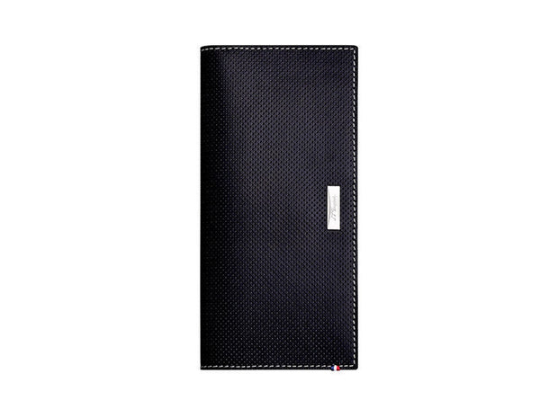 ST Dupont Defi Black Perforated Leather 13cc Long Billfold Wallet ST170414-ST Dupont-Truphae