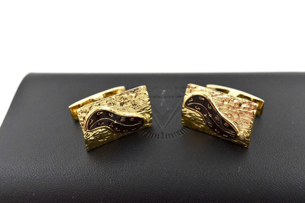 Visconti Special Edition Salvador Dali Bronze Enamel & Gold Plated Cufflinks-Visconti-Truphae