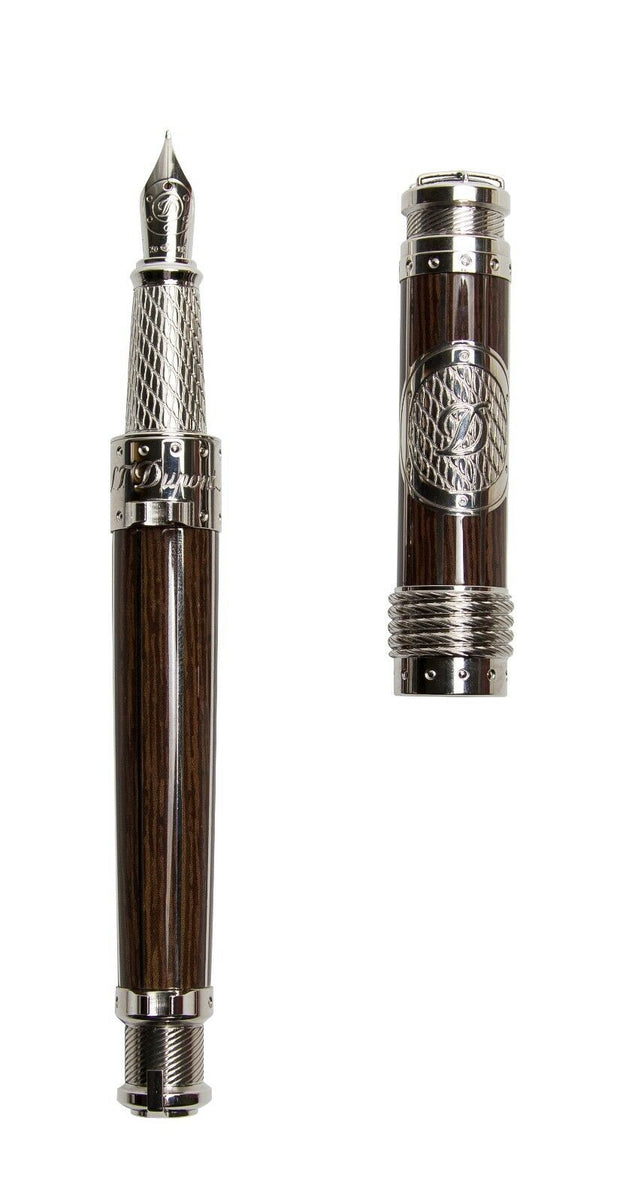 ST Dupont Seven Seas Limited Edition Teak Fountain Pen Lighter Collector Kit-ST Dupont-Truphae