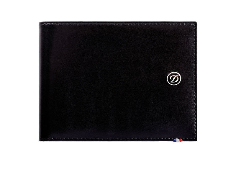 ST Dupont Line D Black Leather 6cc Billfold Wallet ST180000