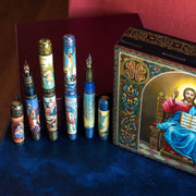 "Artus Russian Miniature Art One of a Kind ""The Life of Christ"" Fountain Pen Set-Artus-Truphae"