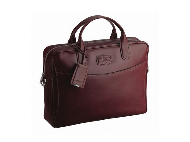 ST Dupont Line D Burgundy Dark Red Leather Document Case Zip Pouch ST181603SS-ST Dupont-Truphae