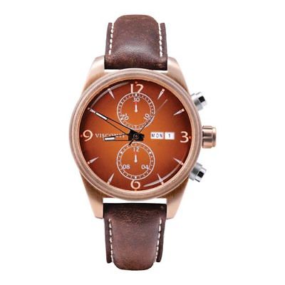 Visconti Italy Roma 60s Chronograph Bronze with Brown Dial Automatic Watch