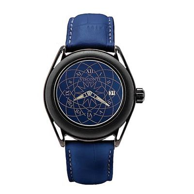 Visconti Italy Lava Evolution Stainless Steel PVD Blue Dial Automatic Watch