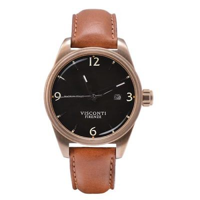 Visconti Italy Roma 60s Bronze with Black Dial 42mm Automatic Watch