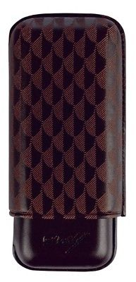 Davidoff Black Leather Curing Pattern XL-2 Double Two Cigar Case 106760