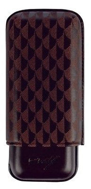 Davidoff Brown Leather Curing Pattern XL-2 Double Two Cigar Case 105587