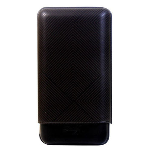 Davidoff Black Leather Leaf Pattern XL-3 Triple Three Cigar Case 105581