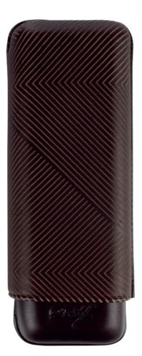 Davidoff Black Leather Leaf Pattern XL-2 Double Two Cigar Case 105601