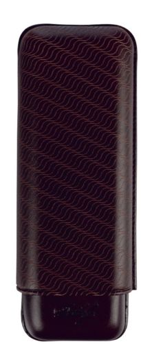 Davidoff Black Leather Enjoyment Pattern XL-2 Double Two Cigar Case 106762