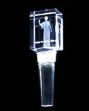Lady Justice polished optical crystal wine or bottle stopper for your legal or medical professional!