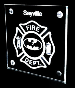 Personalized optical Coaster with 2D image- Fire Department, Law Enforcement, EMS and more!