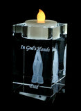 Crystal Candle holder: Prayer Hands votive candle holder