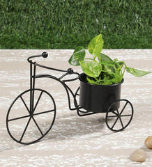 Small Cycle Planter Black