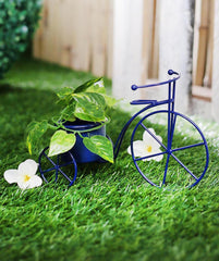 Small Cycle Planter Blue