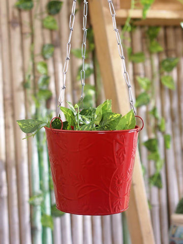 Hanging Bucket Red