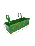 Handpainted Rectangle Planter Green