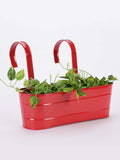 Oval Railing Planter Large Red
