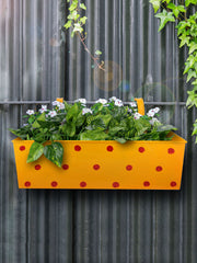 Polka Dot Rectangle Planter Yellow