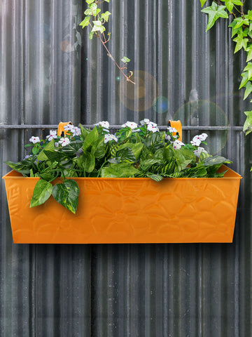Embossed Rectangular Pot Yellow