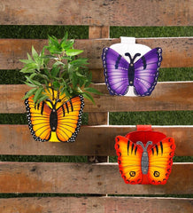 Set of Three Butterfly Railing planters