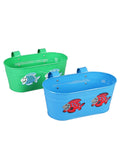 Set of two Fish Tub Blue & Green