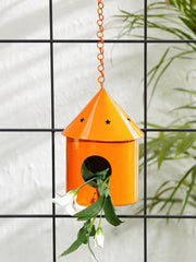 Round Hut Bird House Orange
