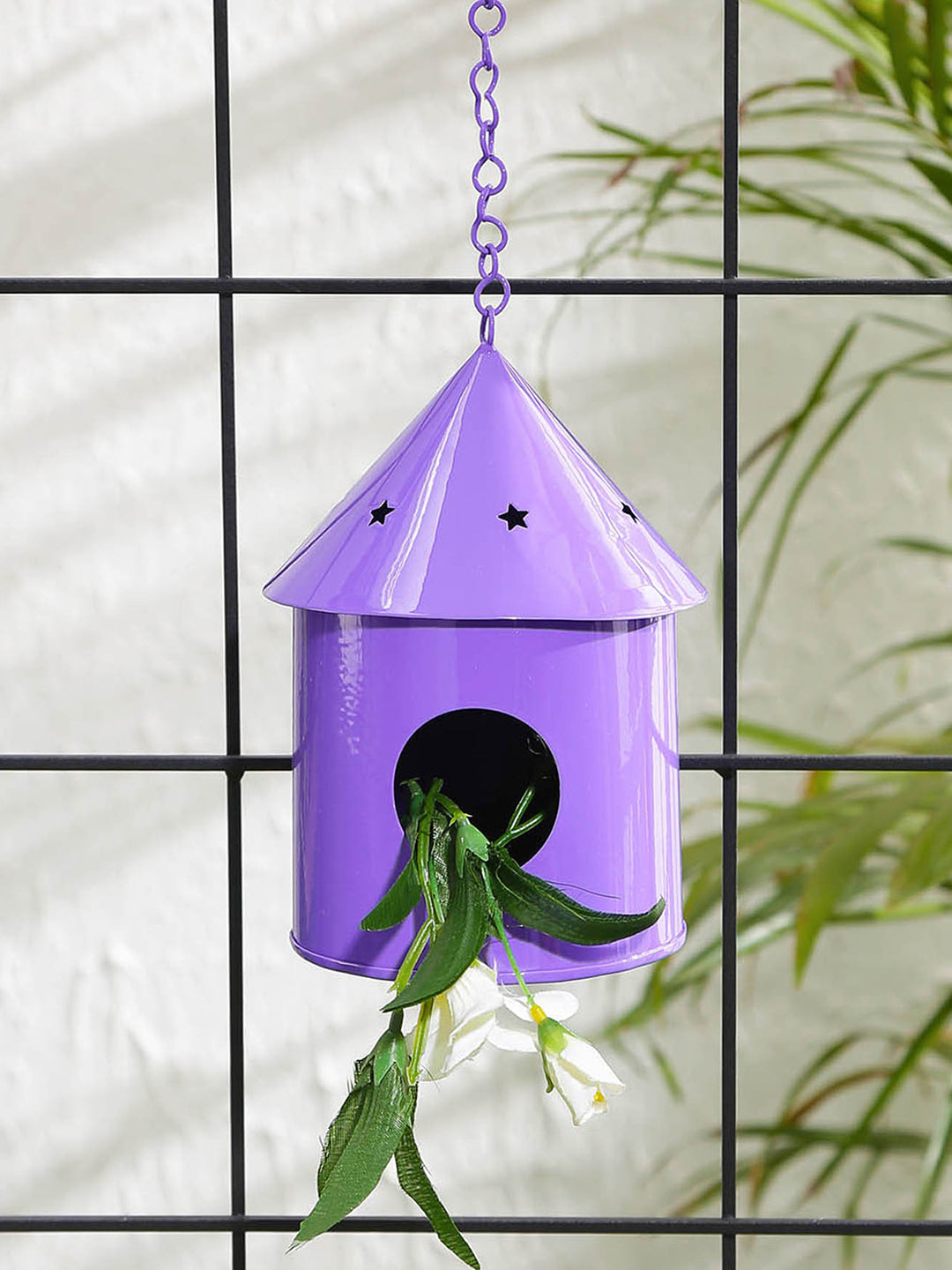 Round Hut Bird House Purple