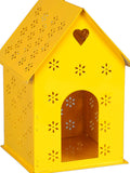 Hut Shape Bird House Yellow