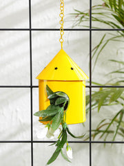 Round Hut Bird House Yellow