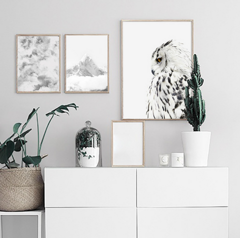 Wall Art Canvas - Nordic Owl