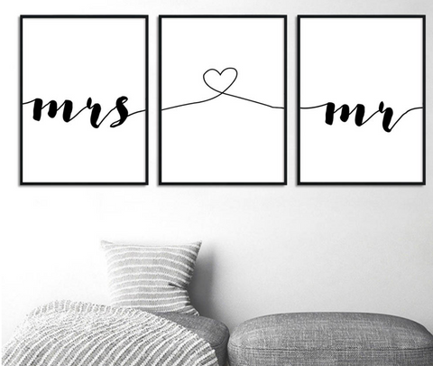Wall Art | Mr and Mrs