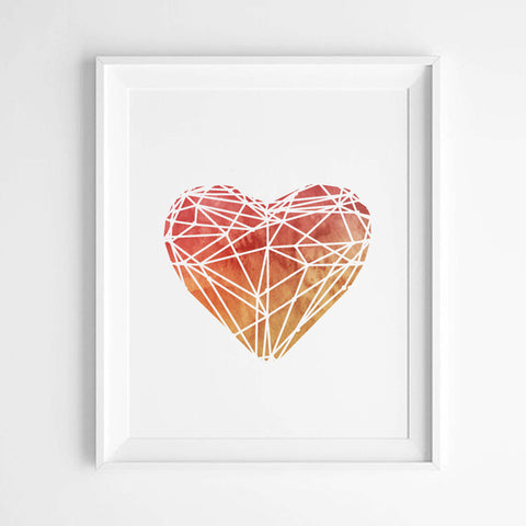 Wall Art | Watercolour Heart