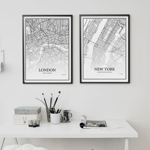 Wall Art | City Grid Map