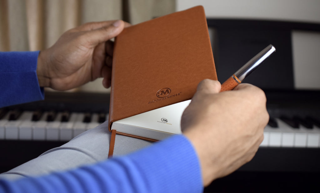 Beautiful brown A5 notebook by Rhodium Mines