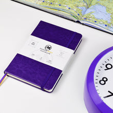 Rhodium Mines® Dot Grid Numbered Notebook (Purple)